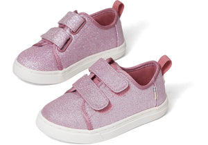 Toms Lenny Double Strap Ballet Pink Glitter