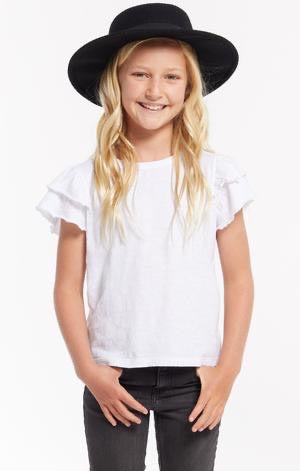 Z Supply Lila Ruffle Tee - White