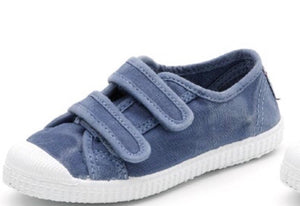 Cienta 2 Strap Velcro - washed blue
