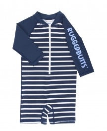 RuggedButts Navy Stripe Onepiece Rash Guard