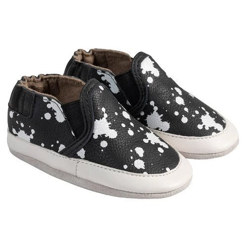 Robeez Soft Soles Liam Black/White