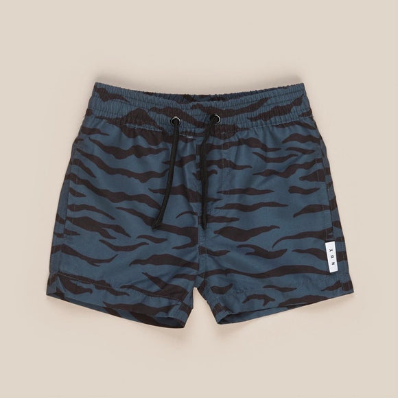 HuxBaby Tiger Stripe Swim Short - Ink