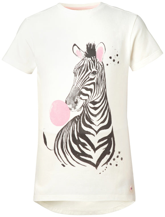 noppies zebra tee white