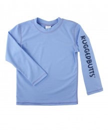 Rugged Butts Cornflower Blue Logo Rash Guard