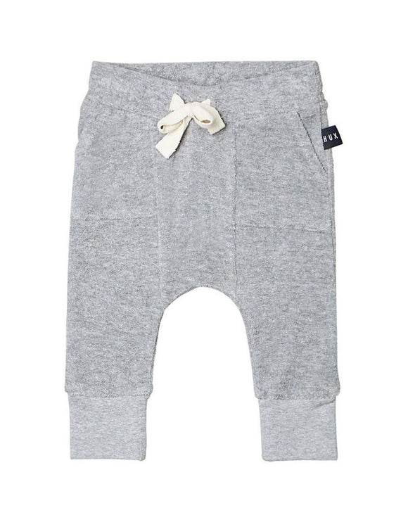 HuxBaby Grey Pocket Drop Crotch Pant