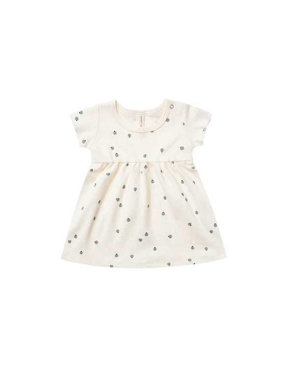 Quincy Mae Short Sleeve Baby Dress- Ivory