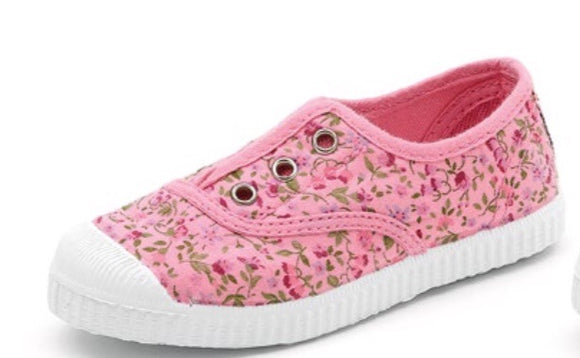 Cienta Slip on Sneakers - pink flower