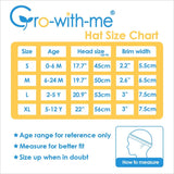 JAN & JUL GRO-WITH-ME 50+ UPF Cotton Bucket Hat -Narwhale