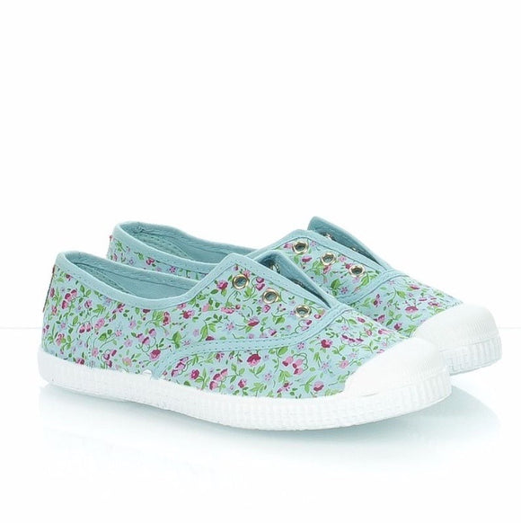 Cienta Slip-on Sneakers - blue floral