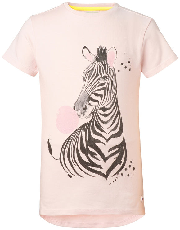 noppies zebra tee pink