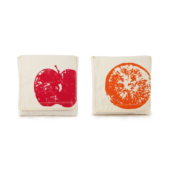 Fluf Apples & Oranges Snack Pack/Set of 2