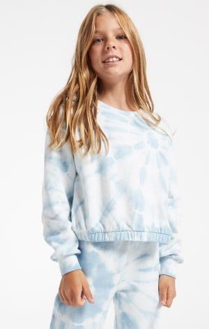 Z Supply Carmen Tie Dye Top - Blue Agave