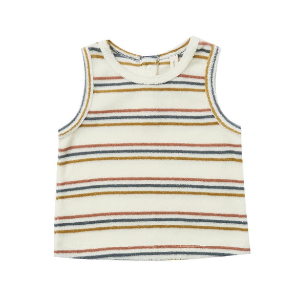 Quincy Mae Terry Tank - Retro Stripe