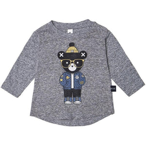 HuxBaby Huxbear Charcoal top