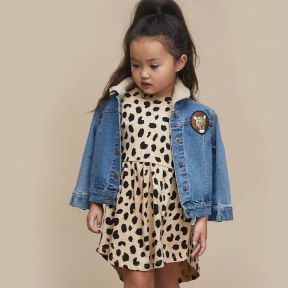 HuxBaby Animal Spot Swirl Dress
