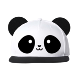 Whistle & Flute Kawaii Panda Flat Brim Cap With Ears