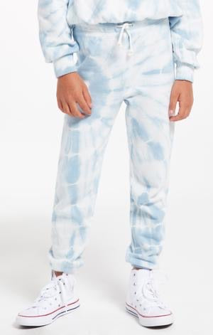 Z Supply Tie Dye Jogger - Blue Agave