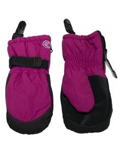 Calikid Waterproof Mitts with Clip - Olympic Pink