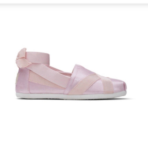 Toms Ballerina Shiny Pink Youth