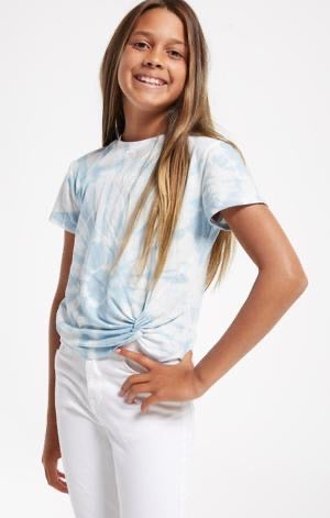 Z Supply Teagan Tie Dye Tee - Blue Agave