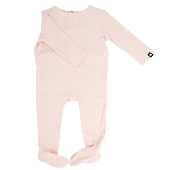 Sweet Bamboo Footie with Bum Flap - Pink Blush