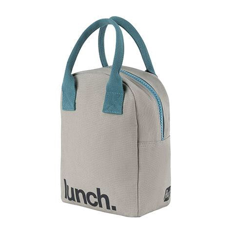 Zipper Lunch Bag Grey Midnight