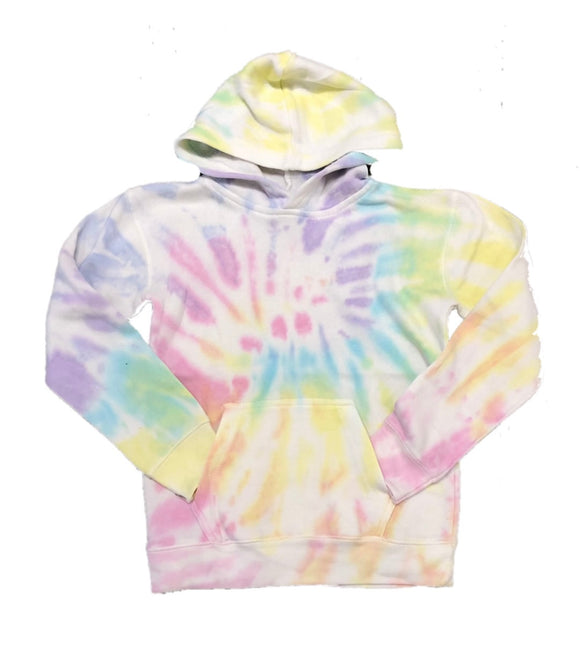 Vintage Havana Burnout Fitted Hoodie- Sunshine Swirl