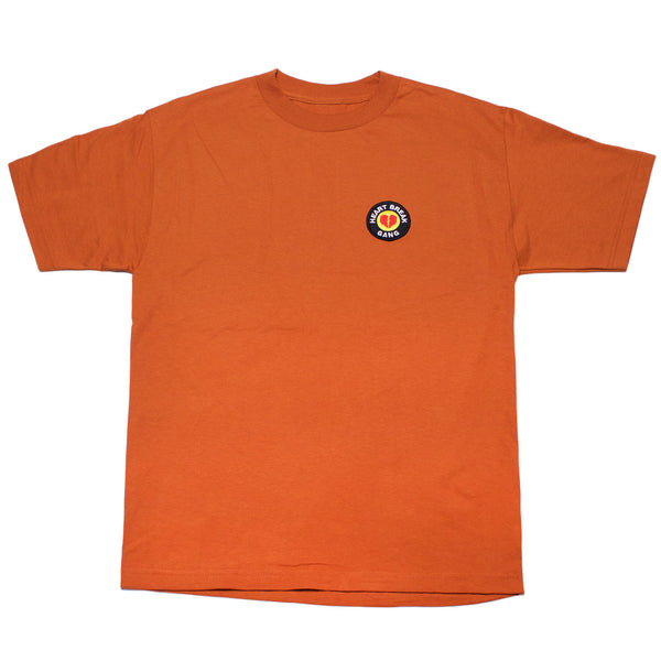 Heart Break Patch Tee (Dark Orange)