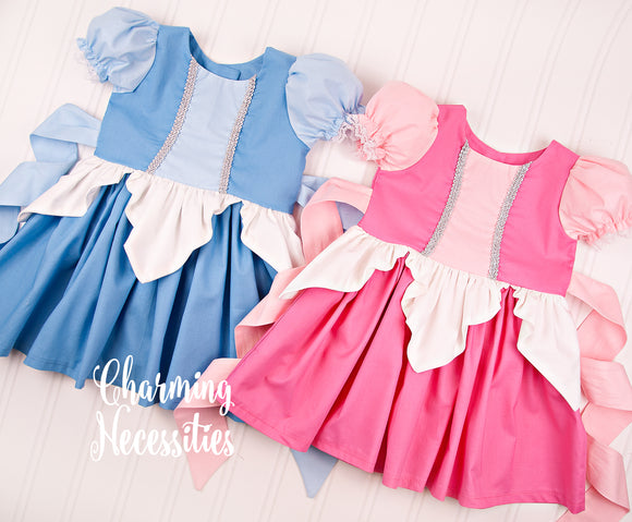 True Loves Kiss Dress in Pink or Blue