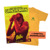 Limited Ganja Man T-Shirt + Limited Black Light Poster + Single Bundle
