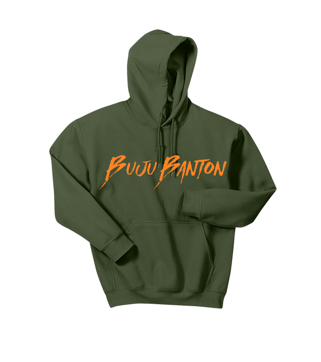 MILITARY GREEN BB SIGNATURE HOODED SWEATSHIRT!!