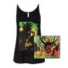 Buju Banton Upside Down 2020 Women's Slouchy Tank + CD