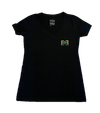 Adults Simple Black V-Neck BB T-Shirt