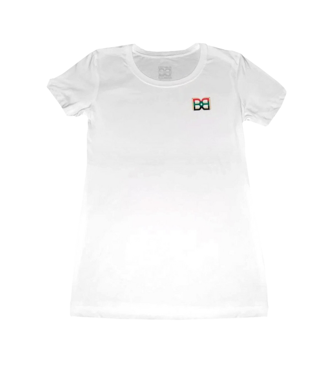 Adults Simple White Crew BB T-Shirt