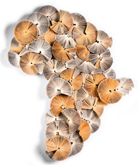 Large Africa Reinvented - Book Sculpture