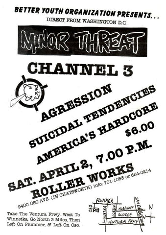Minor Threat Flier