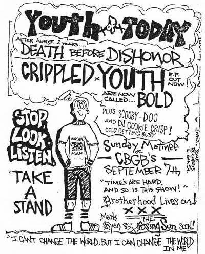 Youth of Today Flier