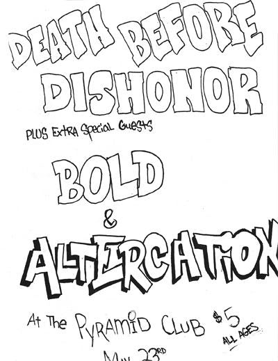 Death Before Dishonor Flier