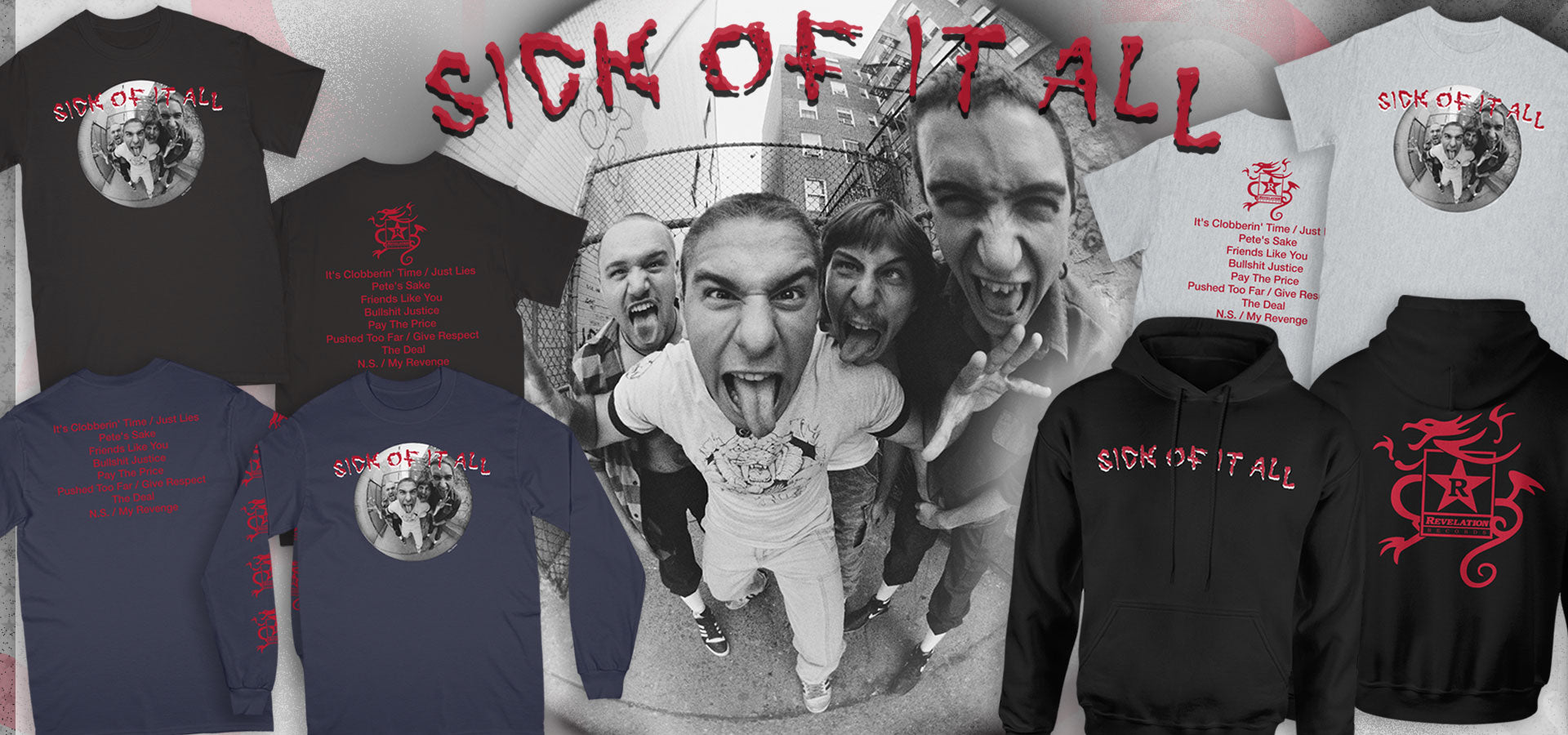 Sick of it All New Merch Banner