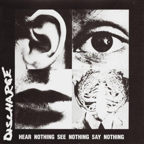 "HAV1243-1 Discharge ""Hear Nothing See Nothing Say Nothing"" LP Album Artwork"