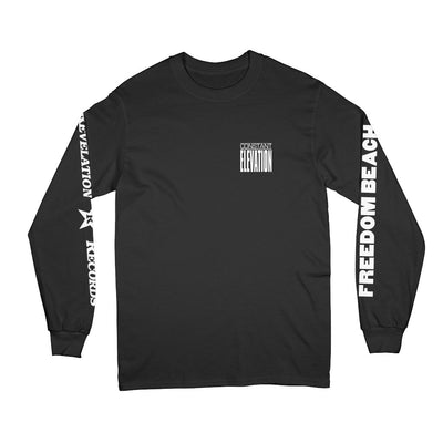 "REVLS183 Constant Elevation ""Freedom Beach (Black)"" - Long Sleeve Front"
