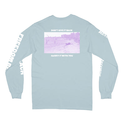 "REVLS183A Constant Elevation ""Freedom Beach (Powder Blue)"" - Long Sleeve Back"