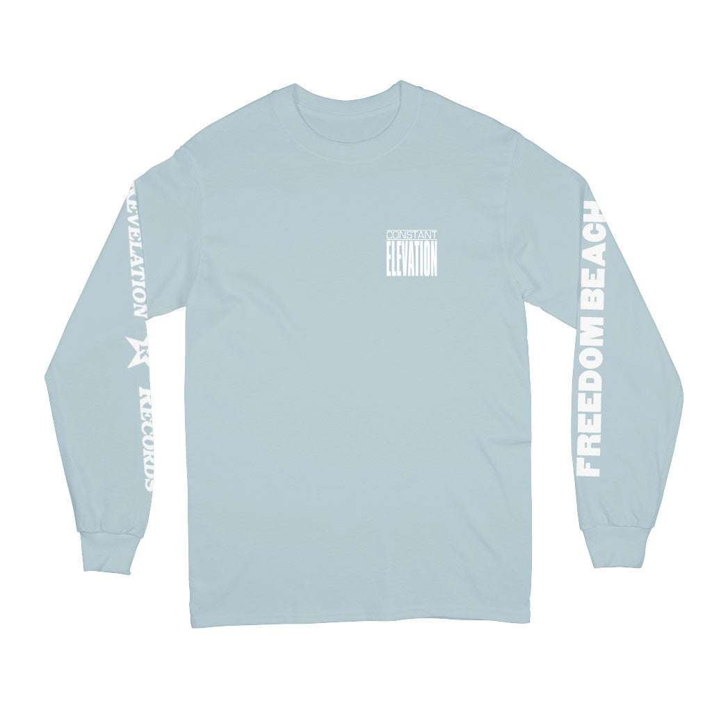 "Constant Elevation ""Freedom Beach (Powder Blue)"" - Long Sleeve"