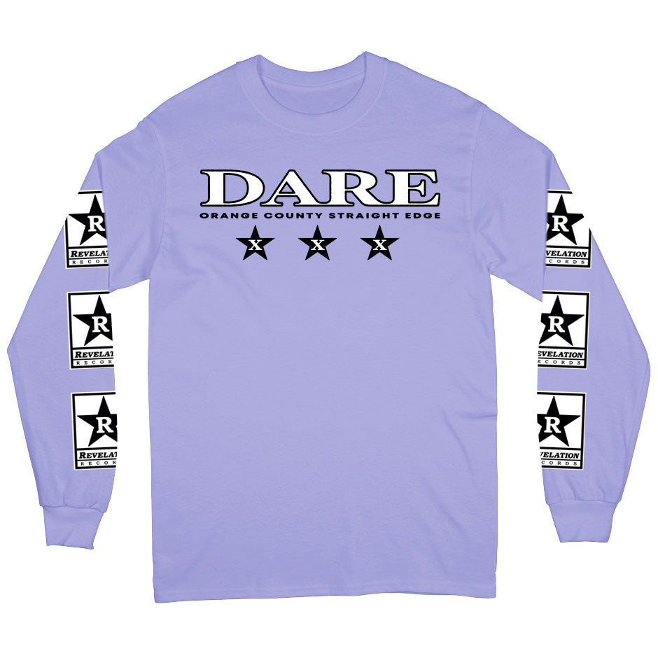 "Dare ""Orange County Straight Edge"" - Long Sleeve T-Shirt"