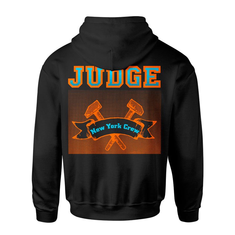 "JUDGEHS02 Judge ""New York Crew (Black)"" -  Hooded Sweatshirt Front"