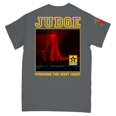 "JUDGESS04 Judge ""West Coast Storm 2019"" -  T-Shirt Back"