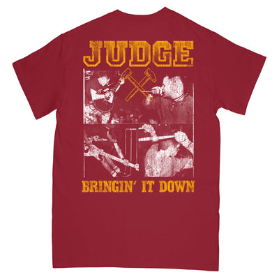 "JUDGESS06M Judge ""Bringin' It Down (Maroon)"" -  T-Shirt Back"