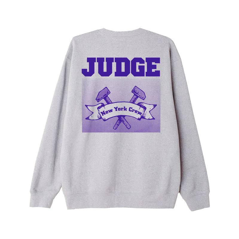"Judge ""New York Crew (Grey)"" - Crew Sweatshirt"
