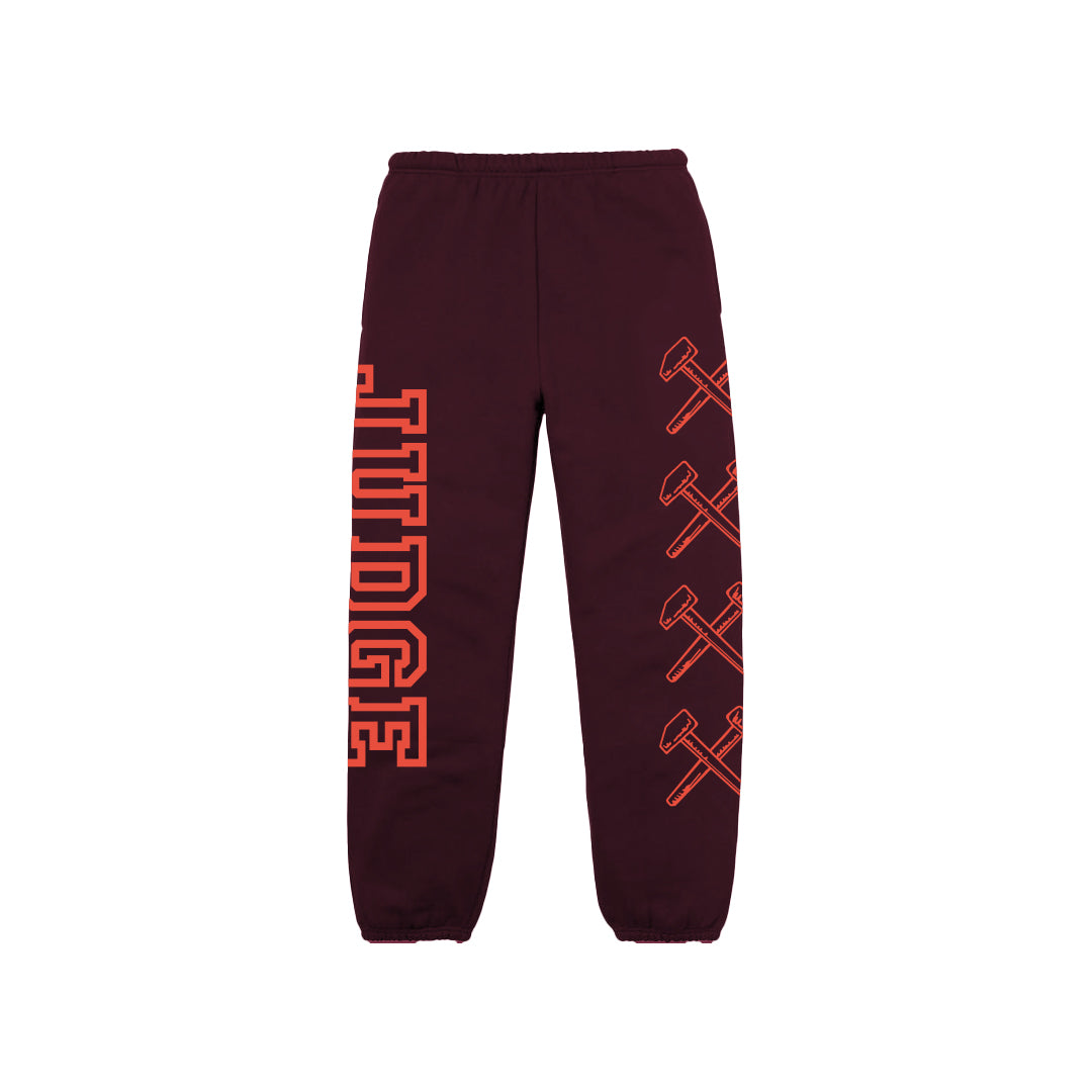 "Judge ""Logo (Maroon)"" - Sweatpants"