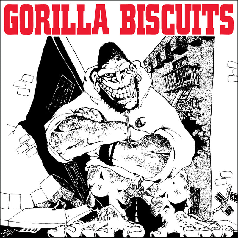 "REV004-1 Gorilla Biscuits ""s/t"" 7""ep/CD Album Artwork"
